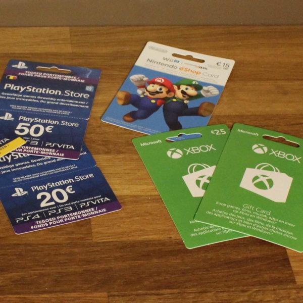 Cadeaukaart Playstation Nintendo Xbox