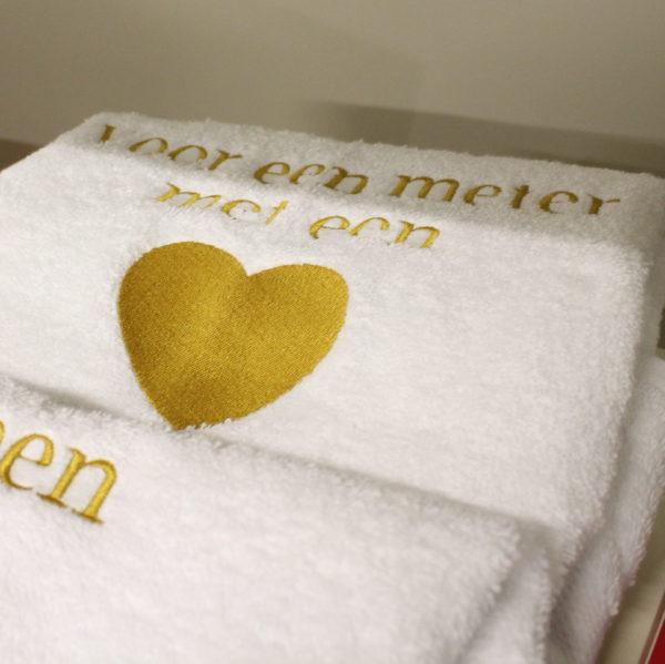 Geschenk peter meter geborduurd handdoek