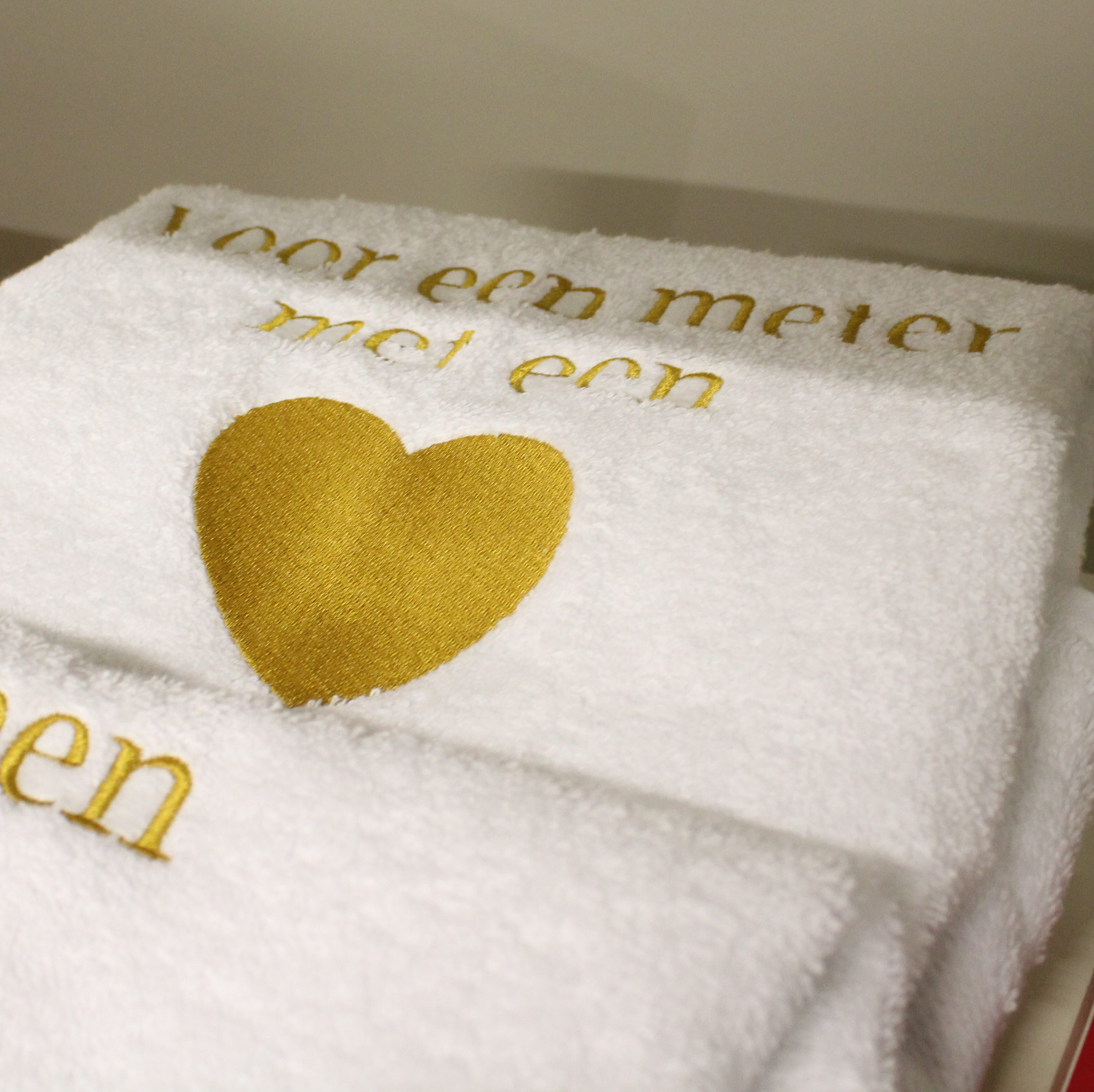 Handdoek Geborduurd Meterpeter T Katooke Geschenken