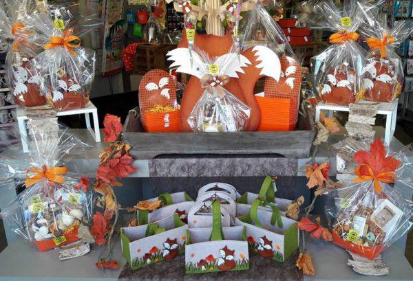 Halloween herfst cadeaupakketten vosje cadeauverpakking