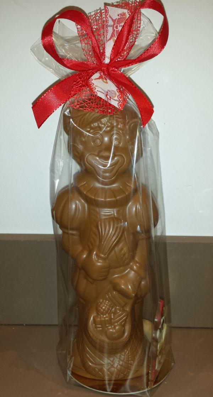 Sinterklaas Sint Maarten Piet chocoladen figuur 25 cm