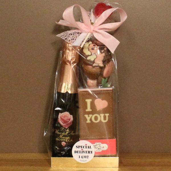 Valentijn cadeaupakket cava chocolade