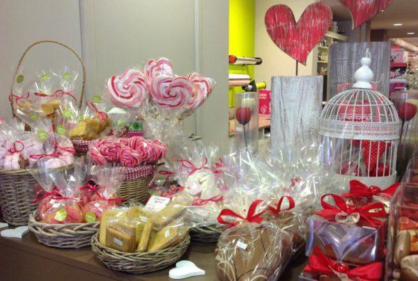 Valentijn delicatessen koekjes snoep lolly hartvormig
