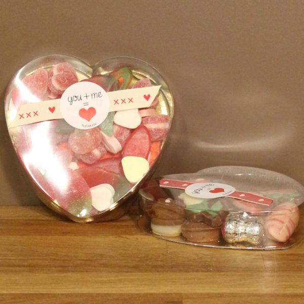 Valentijn plexi snoep hart