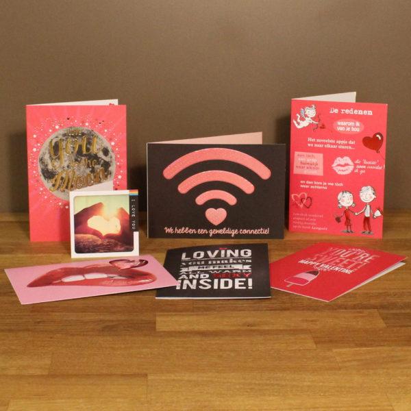 Valentijn wenskaart postkaart