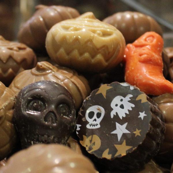 Halloween-chocolade-praliné-pompoen-spook