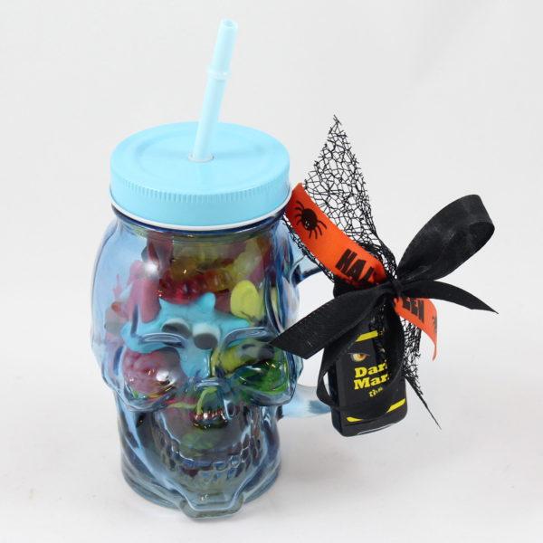 Halloween-glas-doodshoofd-snoep