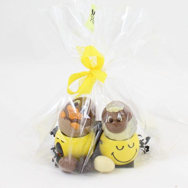 pasen smiley eierdop chocolade