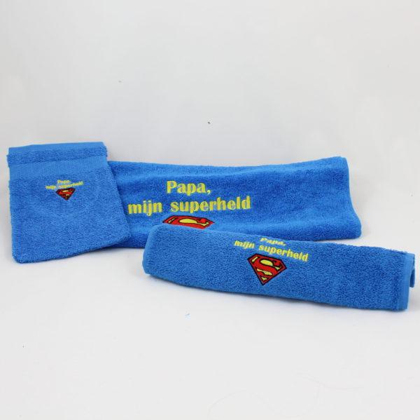 washandje-handdoek-super-papa-superman