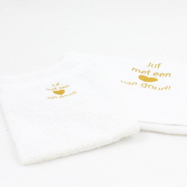 juf-hart-goud-handdoek-washand