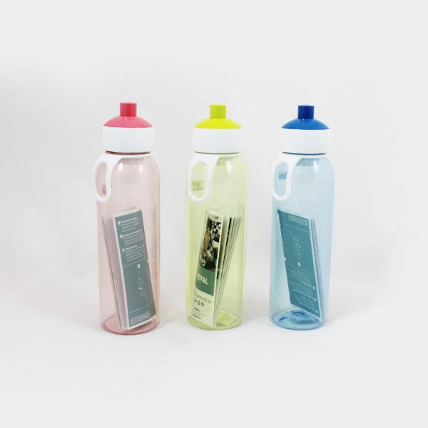 terug naar school-drinkfles-roos-groen-blauw