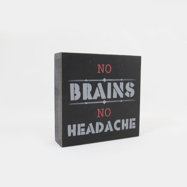 terug naar school-kader-no brains-no headache-