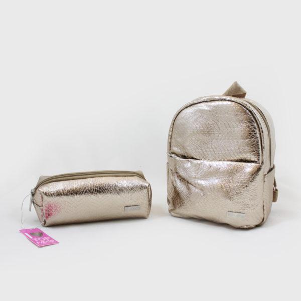 terug naar school-blink-goud-rugzak-pennenzak